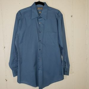 Van Heusen 16.5 32/33 smokey blue dress shirt
